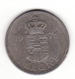 Danemarca 1 coroana 1976 - Margrethe II, Europa