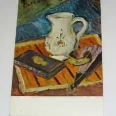 Theodor Pallady - Natura cu cana si evantai - ARTA - PICTURA - necirculata anii 1980 - 2+1 gratis toate produsele la pret fix - RBK7124