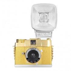 Lomography Diana Mini with Flash Gold - Aparat foto pe film 35mm - Aparat de Colectie