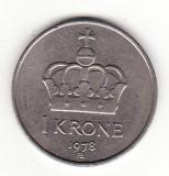 Norvegia 1 coroana 1978 -  Olav V, Europa