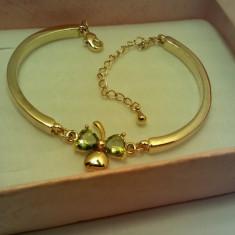 Bratara Dama Placata Aur 14K cu Trifoi - Bratara placate cu aur