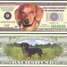 SUA = FANT. NOTE = SORICAR ( TECKEL, DACHSHUND) - 2006 - UNC/SERIA CAINI, WOOF - bancnota america