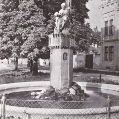CARTE POSTALA SIBIU Fantana arteziana R.P.R. Necirculata - Carte Postala Transilvania dupa 1918, Fotografie