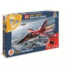 "1460.Macheta kit avion - AMX ""GHIBLI"" + puzzle scara 1:100 - Macheta Aeromodel"