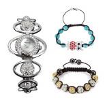 Ceas dama ALIAS KIM (SUA) by FOSSIL argintiu lux elegant+cutie cadou+2 bratari, Casual, Quartz, Inox, Analog