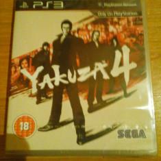JOC PS3 YAKUZA 4 SIGILAT ORIGINAL / STOC REAL in Bucuresti / by DARK WADDER - Jocuri PS3 Sega, Actiune, 18+, Single player
