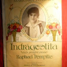 Partituri vechi - Indragostita- Vals pt pian de R.Pompilio dedicata M.Ventura - Partitura