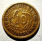 B.877 GERMANIA WEIMAR 10 RENTENPFENNIG 1924 A, Europa, Bronz-Aluminiu