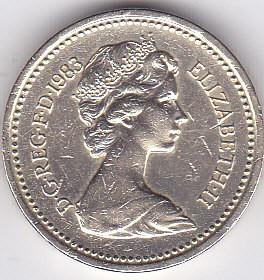 Moneda Marea Britanie 1 Pound 1983 QEII - KM#933 XF