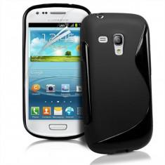 HUSA Samsung I8190 Galaxy S III mini - Husa Telefon Samsung, Samsung Galaxy S3 Mini, Negru, Gel TPU