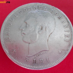5 lei 1906 - Moneda Romania