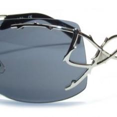 Ochelari de soare dama Thierry Mugler TM10110, Femei, Gri, Fara rama, Metal, Protectie UV 100%