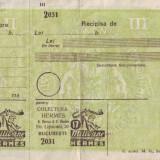 1930 CEC postal pentru Loteria Hermes, bilet loterie perioada interbelica, necompletat