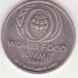 (MR37) MONEDA ROMANIA - 10 LEI 1996 - WORLD FOOD SUMMIT - ROME - 13-17 NOIEMBRIE 1996 - COMEMORATIVA