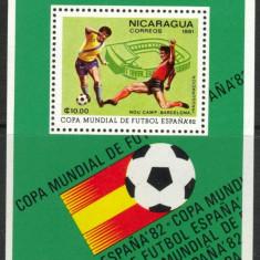 NICARAGUA 1982 FOTBAL CUPA MONDIALA - Timbre straine, Haiti, An: 1960, Sport, Nestampilat