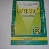MATEMATICA MANUAL PENTRU CLASA A IX-A - C. Nastasescu, C. Nita, Gh. Andrei, RF3 - Manual scolar didactica si pedagogica, Clasa 9, Didactica si Pedagogica