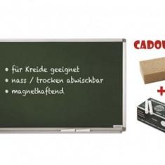 TABLA SCOLARA PT. CRETA MAGNETOPLAN 90X120 cm + CADOU!!! (Burete + 10 buc Creta) - Tabla pentru scoala