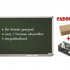 TABLA SCOLARA PT. CRETA MAGNETOPLAN 90X60 cm + CADOU!!! (Burete + 10 buc Creta) - Tabla pentru scoala
