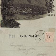 Salutari din Baile Tusnad (Harghita ) -  litografie 1900