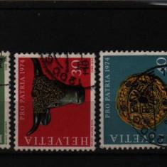1974 elvetia mi. 1031-1034 stampilate - Timbre straine