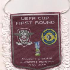 Fanion-RAPID BUCURESTI-C.D.NACIONAL MEDEIRA cupa UEFA 2006 - Fanion fotbal
