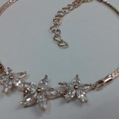 Bratara Dama Superba Placata Aur 18K cu Zirconiu - Bratara placate cu aur