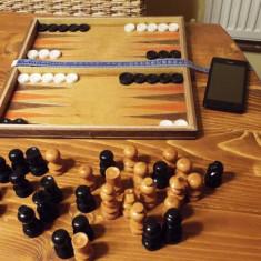 Joc sah table + piese lemn