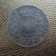 M. 5 lire 1873 Italia, argint