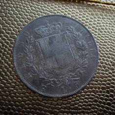 M. 5 lire 1877 R Italia, argint