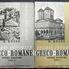 Studii istorice greco-romane opere postume vol I-II de D.Russo, Bucuresti 1939 - Istorie
