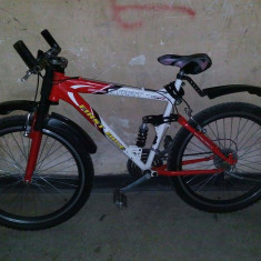 Vand bicicleta FIRST BIKE - Mountain Bike First Bike, 22 inch, 26 inch, Numar viteze: 18, MTB Full Suspension, Cu amortizor