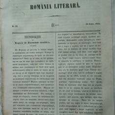 Revista Romania literara ; Director Vasile Alecsandri , nr. 23 , 1855
