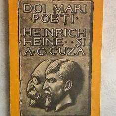 I. LUDO - DOI MARI POETI: HEINRICH HEINE SI A. C. CUZA - O PILDA DE INFRATIRE SEMITO-ARIANA - EDITIE PRINCEPS (1934) - STARE FOARTE BUNA - Carte Editie princeps