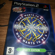 4 manete BUZZ +Joc ps2 WHO WANT TO BE MILLIONAIRE Vrei sa fi milionar ps 2 - Jocuri PS2 Eidos, 3+, Multiplayer