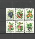 AUSTRIA 1966 - FRUCTE, serie nestampilata  K131, Agricultura, Nestampilat
