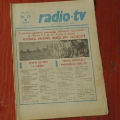 Ziar Radio Tv - anul XXVIII nr 15 saptamana 11 - 17 Aprilie 1982 !!!