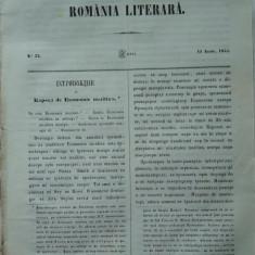 Revista Romania literara ; Director Vasile Alecsandri , nr. 22 , 1855