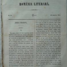 Revista Romania literara ; Director Vasile Alecsandri , nr. 16 , 1855 , texte editia 1 de Alecsandri , Kogalniceanu