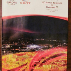 CY - Program meci Europa League Steaua Bucuresti - Liverpool FC 02.12.2010
