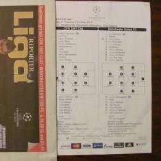 CY - Program meci Champions League CFR Cluj - Manchester United 02.10.2012
