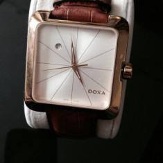 Ceas Doxa folosit, aproape nou - Ceas barbatesc Doxa, Lux - elegant, Quartz, Inox, Piele, Data