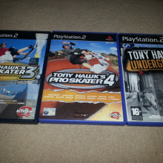 Trilogia colectia Tony Hawk 's ps2 playstation 2 ps 2 - Jocuri PS2 Activision, Role playing, Toate varstele