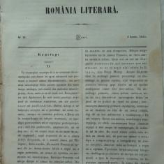 Revista Romania literara ; Director Alecsandri , nr. 21 , 1855 ,texte Alecsandri