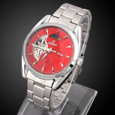 Ceas automatic barbatesc Goer RED Silver barbatesc , ceas Full Automatic