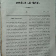 Revista Romania literara ; Director Vasile Alecsandri , nr. 20 , 1855 , texte editia 1 de Alecsandri , Negruzzi , Odobescu