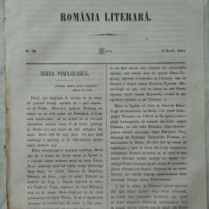 Revista Romania literara ; Director Vasile Alecsandri , nr. 26 , 1855