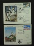 2 PLICURI CU STAMPILA ECHIPAJULUI ELICOPTERULUI IAR 330 H - 02 .09 1989