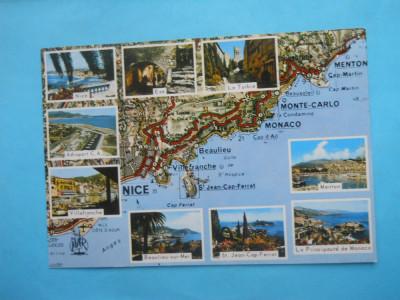 Hopct 12140 Franta Coasta De Azur Harta Necirculata Arhiva