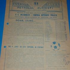 Program meci fotbal PETROLUL Ploiesti - CHIMIA Ramnicu Valcea 03.06.1987