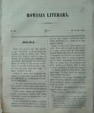 Revista Romania literara ; Director Vasile Alecsandri , nr. 33 , Iasi , 1855 , texte in prima editie Alecsandri